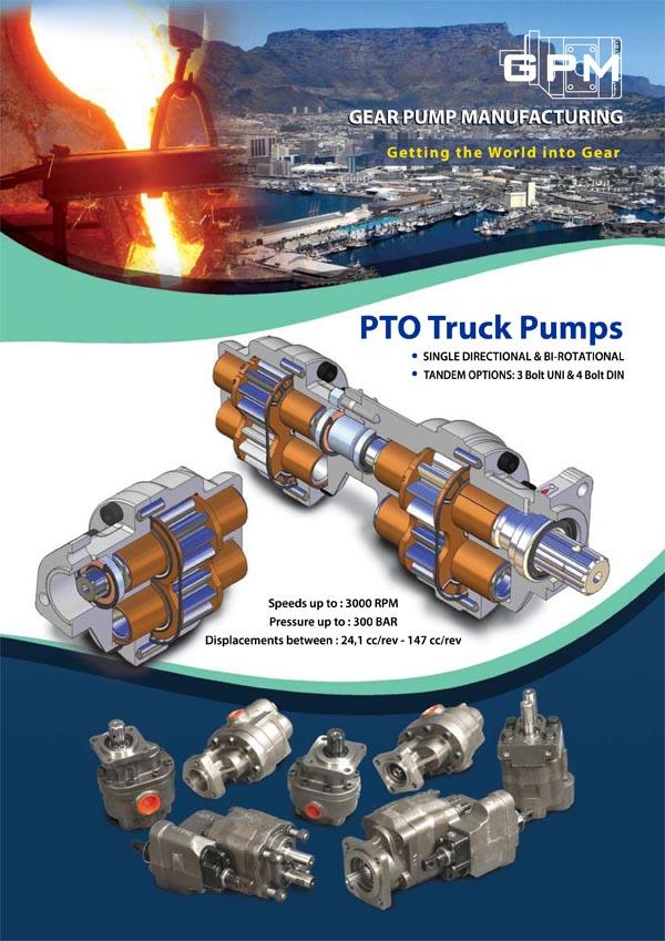 Folleto de bombas de engranajes y pistones PTO GPM