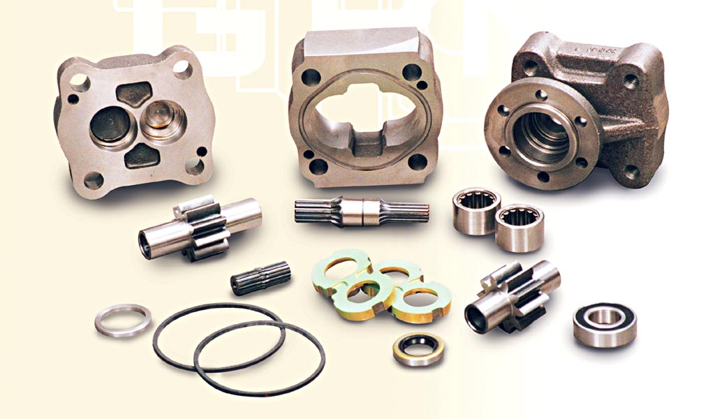 Hydraulic pump components gear pump manufacturing gpm for Parker hydraulic motor distributors