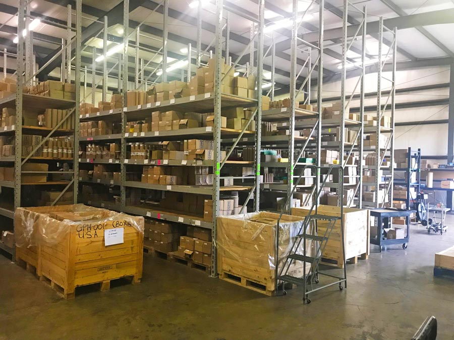 Gear Pump Manufacturing USA Distribution Warehouse