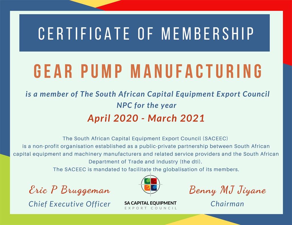 GPM SACEEC Certificate